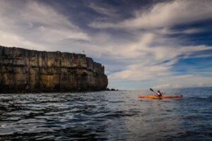 kayaking near the isle