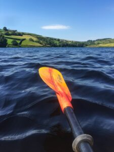 paddle above water
