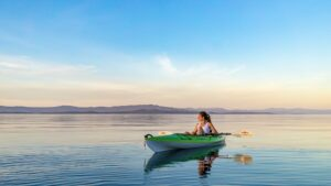 calm effect of kayaking